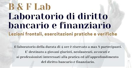 Laboratorio di diritto bancario e finanziario biglietti