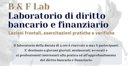 Laboratorio di diritto bancario e finanziario