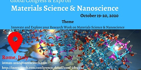 Global Conference & Expo on Materials Science and Nanoscience tickets