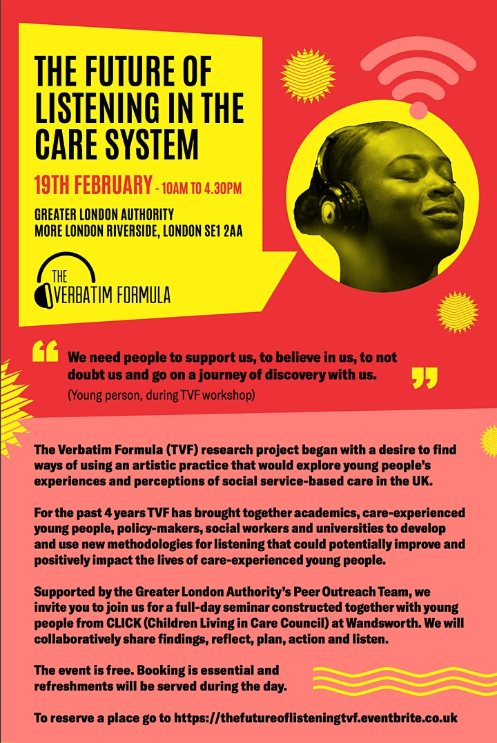 The Future of Listening in the Care System - The Verbatim Formula image