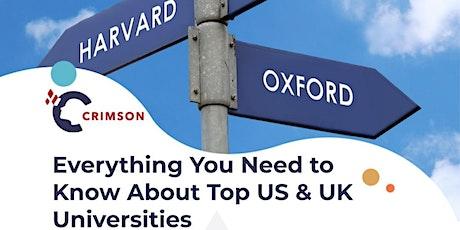Top Universities in the US & UK tickets
