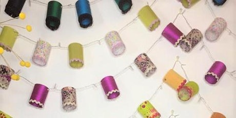 Make your own string of fairy light mini lampshades tickets