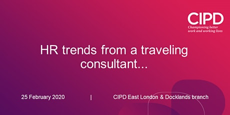 HR trends from a traveling consultant... tickets