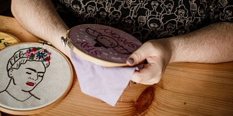 Pixels and Purls Summer Flowers Embroidery Crafternoon Tea Workshop tickets