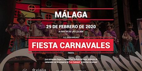 Fiesta carnavales con Los Quintana en Pause&Play Vialia Málaga entradas
