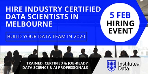 Exclusive Data Science Hiring Event - Melbourne - Feb 2020