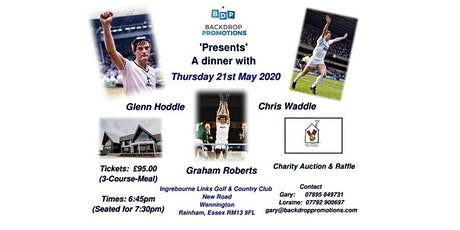 'Glenn Hoddle  &  Chris Waddle'    Q&A Charity Dinner tickets