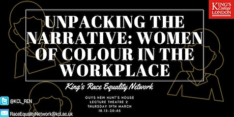 Unpacking the Narrative: Women of Colour In the Workplace tickets