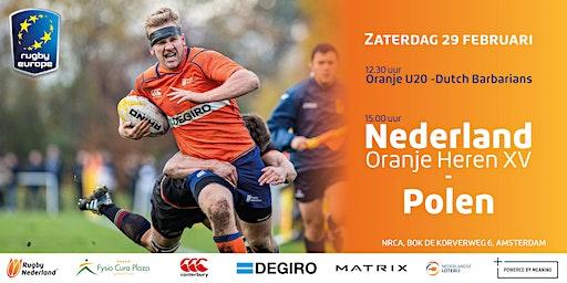 Nederland Heren XV vs. Polen