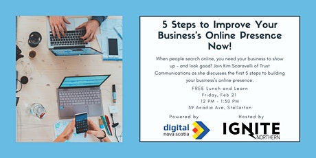 5 Steps to Improve Your Business's Online Presence tickets