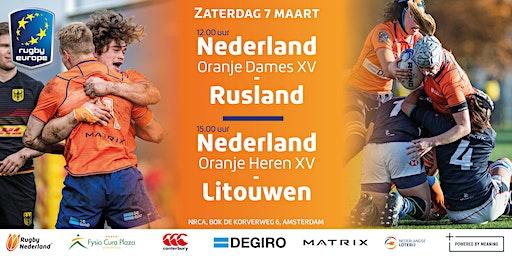 Nederland Heren XV  vs. Litouwen & Nederland Dames XV vs. Rusland
