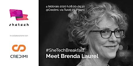 #SheTechBreakfast - Meet Brenda Laurel biglietti