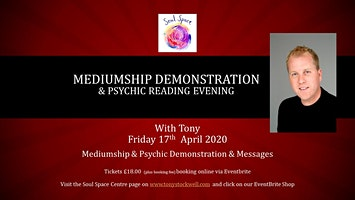 An Intimate Evening of Mediumship & Psychic Messages with Tony
