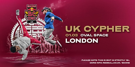 Red Bull BC One Cypher UK Final (18+) tickets
