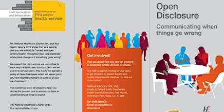 Open Disclosure Workshop 25.03.2020 tickets