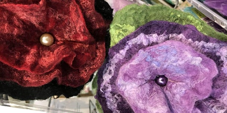 Learn to make felted flowers tickets