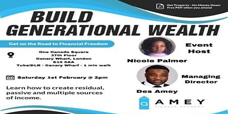 BUILD GENERATIONAL WEALTH tickets
