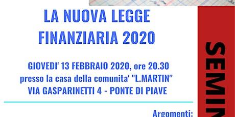 LA NUOVA LEGGE FINANZIARIA 2020 biglietti