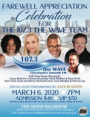 FAREWELL APPRECIATION CELEBRATION CONCERT THE 107.3 WAVE TEAM tickets