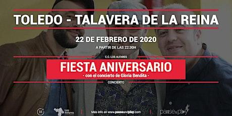 Fiesta aniversario con Gloria Bendita en  Pause&Play Los Alfares entradas