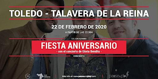Fiesta aniversario con Gloria Bendita en  Pause&Play Los Alfares