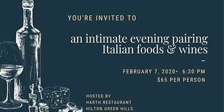 An Intimate Evening Pairing Italian Food & Wine tickets