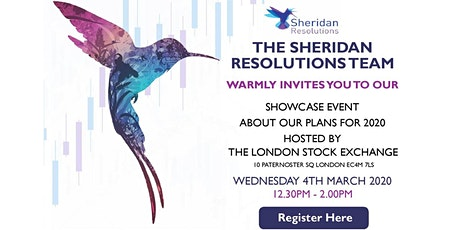 Sheridan Resolutions Showcase Event at the London Stock Exchange tickets
