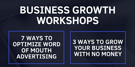3 Ways to Grow You Business With No $$$ tickets