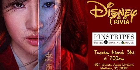 Disney Movies Trivia at Pinstripes Georgetown tickets