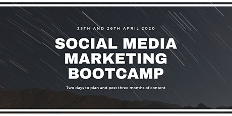 Social Media Marketing Bootcamp - 1 weekend to plan 3 months of content tickets