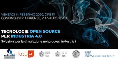 Tecnologie open source  per industria 4.0 biglietti