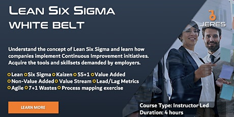 Lean Six Sigma White Belt Training tickets