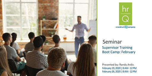 Supervisory Training Boot Camp (Quarter 1)