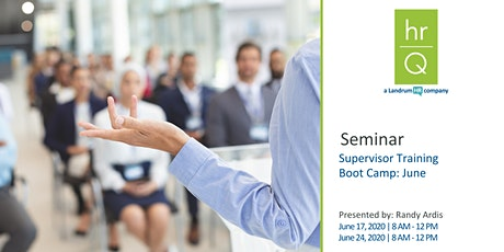 Supervisory Training Boot Camp (Quarter 2) tickets