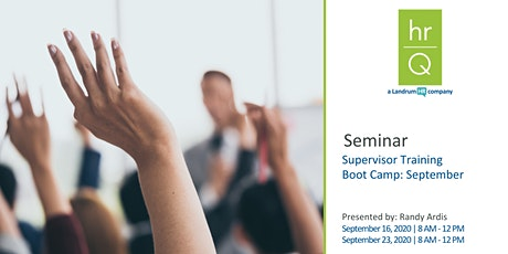Supervisory Training Boot Camp (Quarter 3) tickets