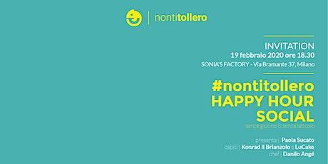 #nontitollero Happy Hour social biglietti