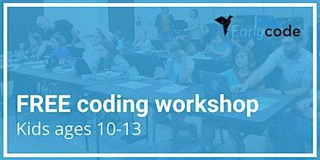 FREE kids coding workshop tickets