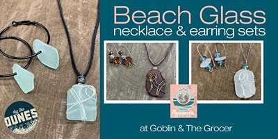 Create Your Own Beach Glass Earrings & Necklace Set