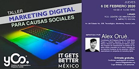 """Taller """"Marketing digital para causas sociales"""" tickets"""