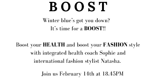 BOOST your HEALTH, BOOST your FASHION