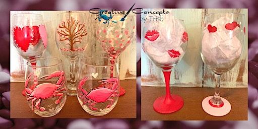 GALentine's Wine Tasting Glass Paint Night
