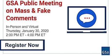 Regulation Management - Public Meeting 1 tickets