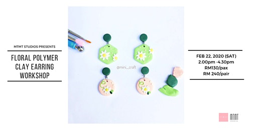 Floral Polymer Clay Earring Workshop
