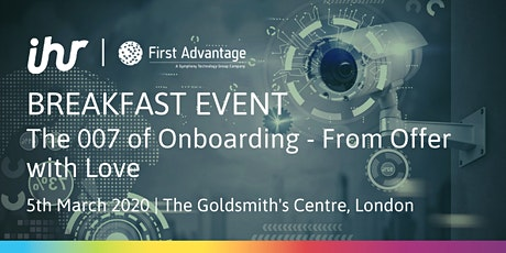 The 007 of Onboarding – From Offer with Love tickets
