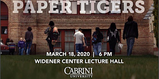 Paper Tigers Movie Showing Presented by the Jordan Center