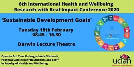 6th International Health and Wellbeing Research with Real Impact Confence tickets