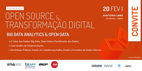 OPEN SOURCE & TRANSFORMAÇÃO DIGITAL: BIG DATA ANALYTICS & OPEN DATA tickets