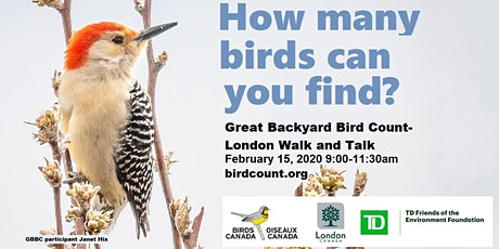 Great Backyard Bird Count - London Walk and Talk tickets