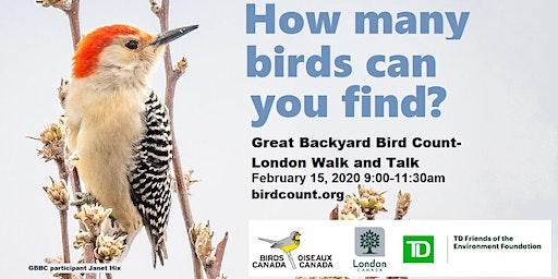 Great Backyard Bird Count - London Walk and Talk