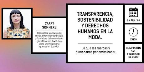 Carry Sommers, fundadora de Fashion Revolution en Ecuador entradas